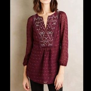 Anthropologie One September Madiran Blouse